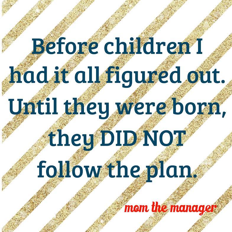 children did not follow the plan